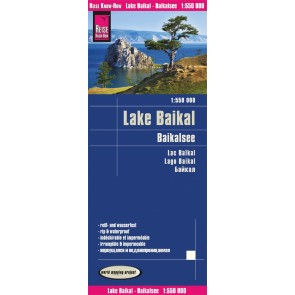 Wegenkaart Lake Baikal / Baikalsee 1:550.000 4.A 2019