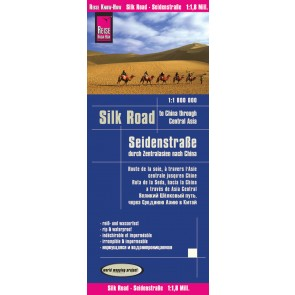 Wegenkaart Silk Road to China through Central Asia 1:1,8m 1.A 2017