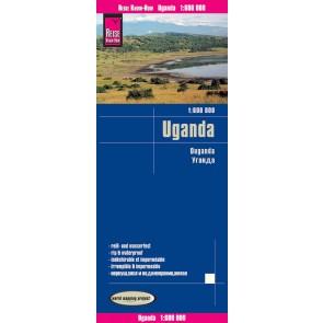 Wegenkaart Uganda 1:600.000  4.A 2017