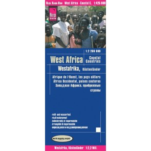 Wegenkaart West Africa-Coastal Countries 1:2,2 Mio 3.A 2019