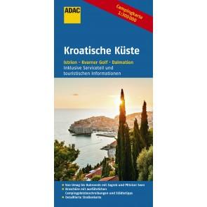 ADAC Campingkarte Kroatische Küste 1:300.000