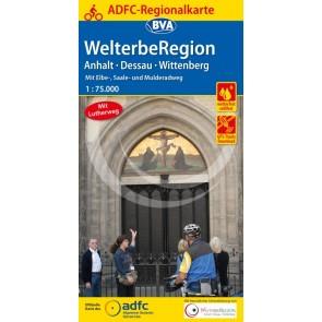 BVA-ADFC Fietskaart Welterberegion Anhalt-Dessau-Wittenberg 1:75.000