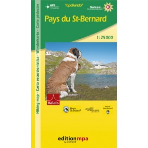 TopoRando Pays du St. Bernard 1:25.000