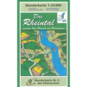 Wandelkaart Das Rheintal 1:25.000 (8)