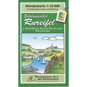 Wandelkaart Erholungsgebiet Rureifel 1:25.000 (2)