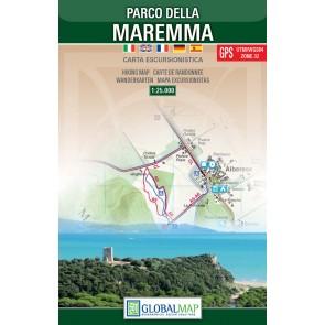Wandelkaart Parco della Maremma  1:25.000 (Global Map)