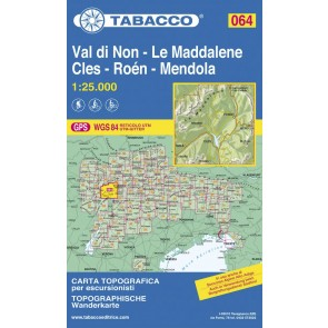 Wandel- fietskaart Val di Non - Le Maddalene  Blad 064 / 1:25.000 (GPS)