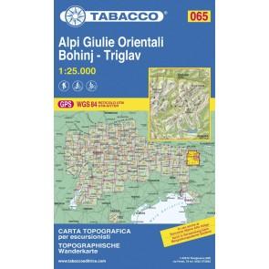 Wandel- fietskaart Alpi Giulie Orientali Bohinj - Triglav  Blad 065 / 1:25.000 (GPS)