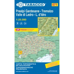 Wandelkaart Dolomiten Blad 071 - Prealpi Gardesane-Tremalso 1:25.000 (GPS) 2019