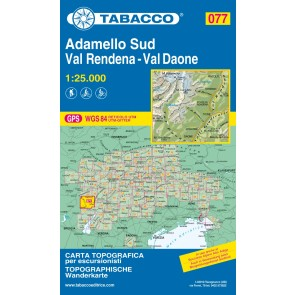 Wandel- fietskaart Adamello Sud - Val Rendena - Val Daone  Blad 077 / 1:25.000 (GPS)