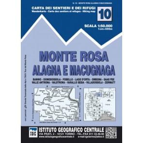 Wandelkaart Blad 10 - Monte Rosa 1:50.000