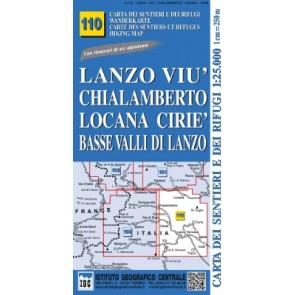 Wandelkaart Italiaanse Alpen Blad 110 Lanzo Viu Chialamberto 1:25.000
