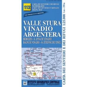 Wandelkaart Italiaanse Alpen Blad 112 Valle Stura Vinadio Argentera 1:25.000