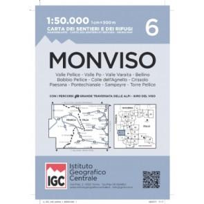 Wandelkaart Blad 6 - Monviso 1:50.000