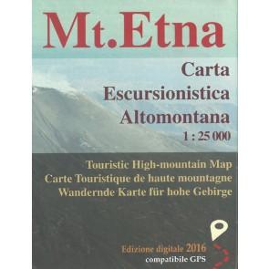 Monte Etna 1:25.000 Carta Escursionistica Altomontana 2016