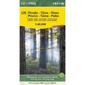Wandelkaart Pinovo-Tzena-Paiko 1:40.000 (135)