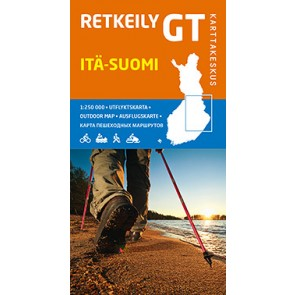 Outdoor Map GT Itä-Suomi (Oost Finland) 1:250.000 (2014)