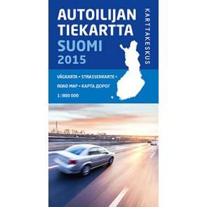 Wegenkaart Autoilijan /Tiekartta Suomi/Finland 1:800.000 (2015)