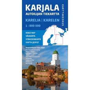 Wegenkaart Karelië-Karjala 1:800.000