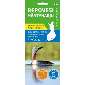 Outdoor Map Repovesi-Mäntyharju 1:15.000/1:40.000