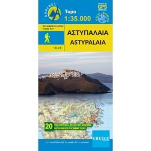 Toeristenkaart Topo Islands Astypalaia 1:35.000 (10.49)