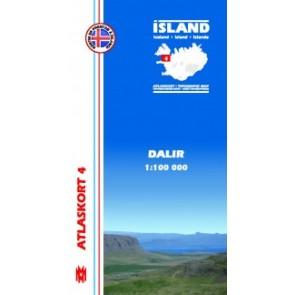 IJslandkaart Atlaskort 4 - Dalir 1:100.000