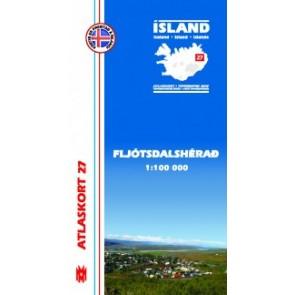 IJslandkaart Atlaskort 27 - Fljótsdalshérað 1:100.000