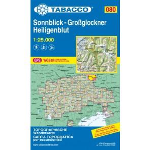 Wandelkaart Tabacco Blad 080 Sonnblick-Großglockner Heiligenblut (GPS)