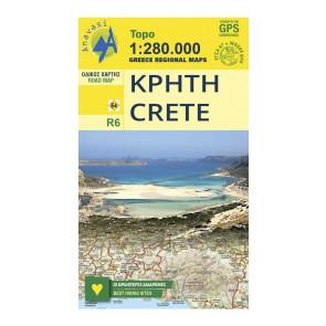 Landkaart Topo 1:280.000 Crete (R6)