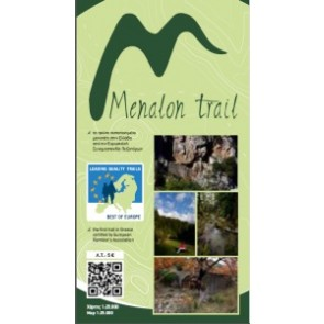 Wandelkaart Topo 25 Menalon Trail Map