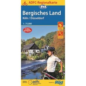 BVA-ADFC Regionalkarte Bergisches Land  Köln/Düsseldorf 1:75.000 (2020)