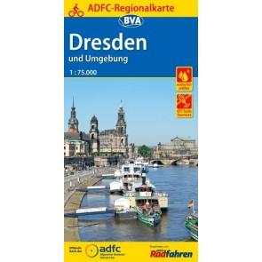 Fietskaart BVA-ADFC Regionalkarte Dresden und Umgebung 1:75.000 (6.A 2018)