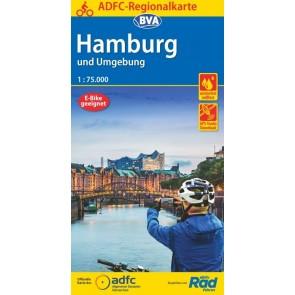 BVA/ADFC Regionalkarte Hamburg und Umgebung 1:75.000 (6.A 2020)