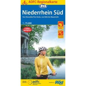 BVA-ADFC Regionalkarte Niederrhein Süd 1:75.000 (6.A 2020)