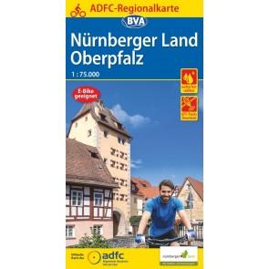 BVA-ADFC Regionalkarte Nürnberger Land Oberpfalz 1:75.000