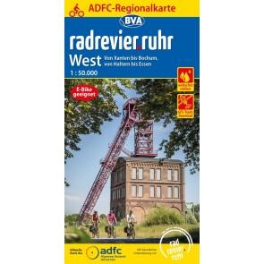 Fietskaart BVA- Radrevier-Ruhr West 1:50.000