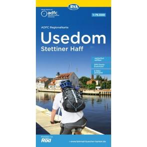 BVA-ADFC Regionalkarte Usedom - Stettiner Haff 1:75.000