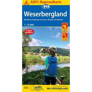 Fietskaart ADFC Regionalkarte Weserbergland 1:75.000