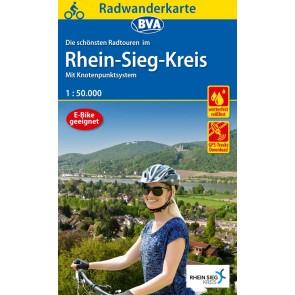 Fietskaart BVA-Radwanderkarte Rhein-Sieg-Kreis 1:50.000