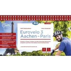 Fietsgids Eurovelo 3 Aachen-Paris 1:75.000