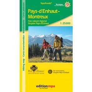 TopoRando Pays D'Enhaut-Montreux 1:25.000